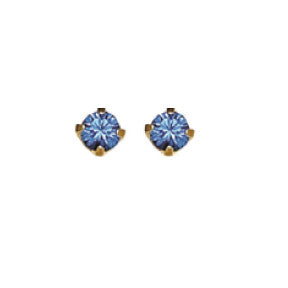 Inverness 89C - 24KT CZ Earrings 3MM SAPPHIRE TIFFANY SEPTEMBER | Absolute Beauty Source