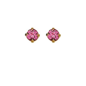 Inverness 90C - 24KT CZ Earrings 3MM ROSE TIFFANY OCTOBER | Absolute Beauty Source