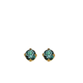 Inverness 92C - 24KT CZ Earrings 3MM ZIRCON TIFFANY DECEMBER | Absolute Beauty Source