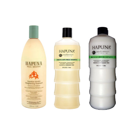 Hapuna Hawaiian Keratin Straightening Treatment Kit