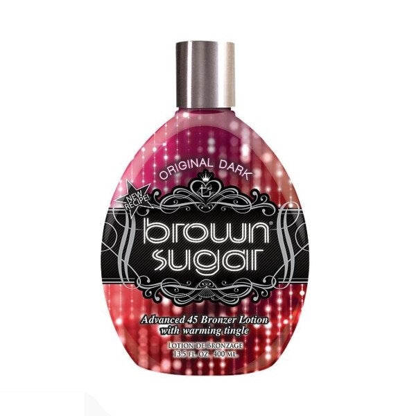 Original Dark Brown Sugar - Advanced 45 Bronzer Lotion with Warming Tingle - Tanning Lotion