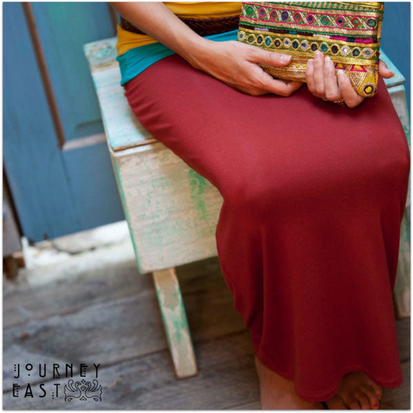 Bamboo Pencil Skirt - Maxi