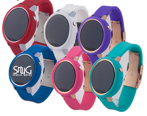 SnuG Silicone Women's Moto 360 Band with matching Bumper Case Set
