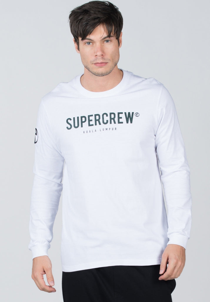 Never Defeated Long Sleeve #White
