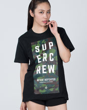 Never Defeated Short Sleeve #Black Camo