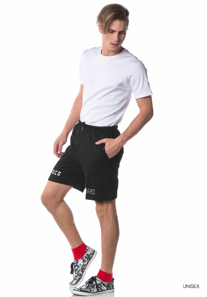 Dialogue Leaf Short Pants (Black)