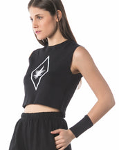 Stoned Equate Crop Top (Black)