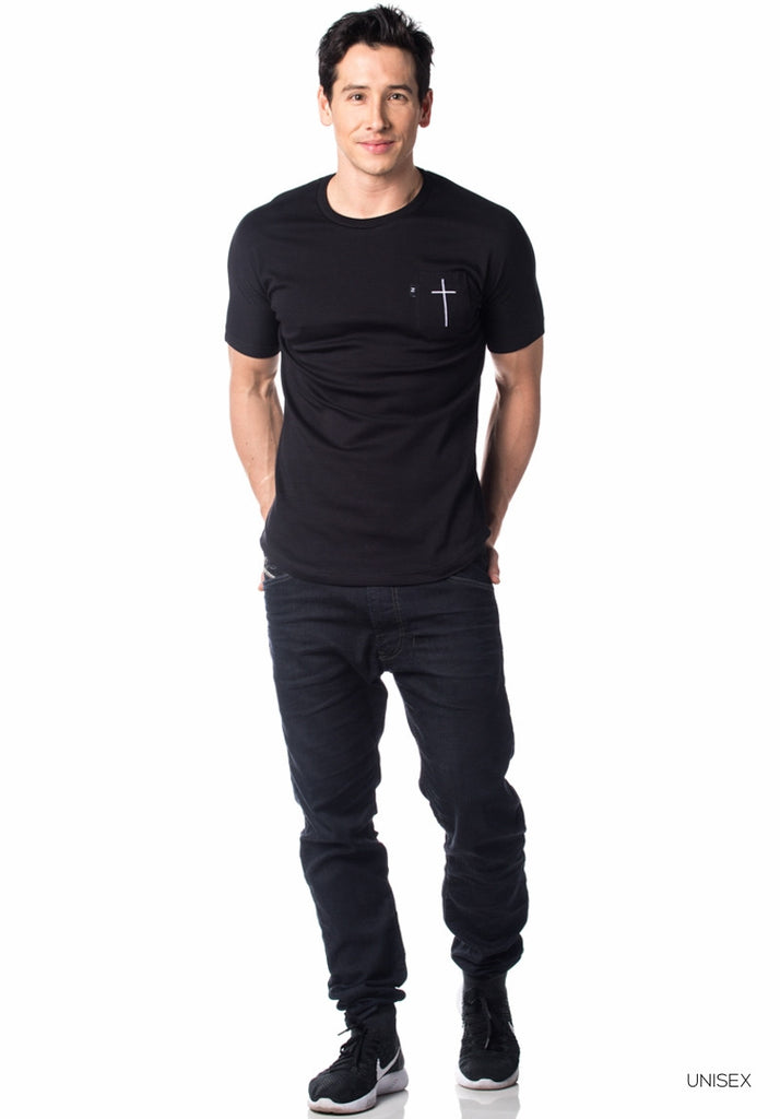 Yezzo Pocket Tee Aint Just Religion Black SS
