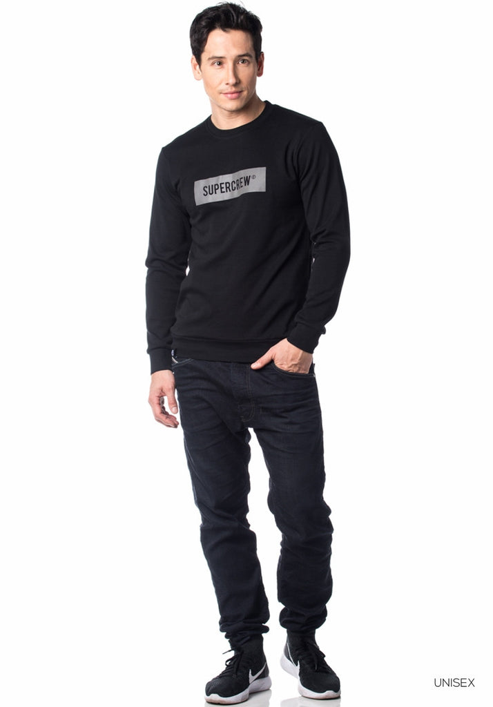 Supercrew Reflective Tee LS Black