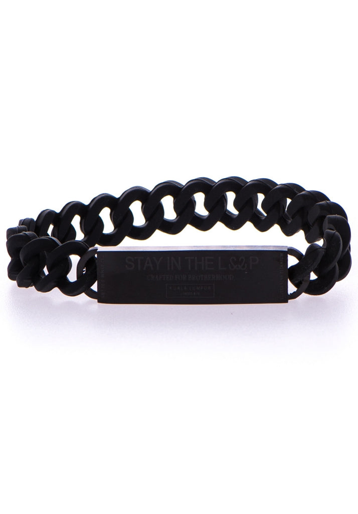 Andfersand Brotherhood Bar Bracelet Matte Black