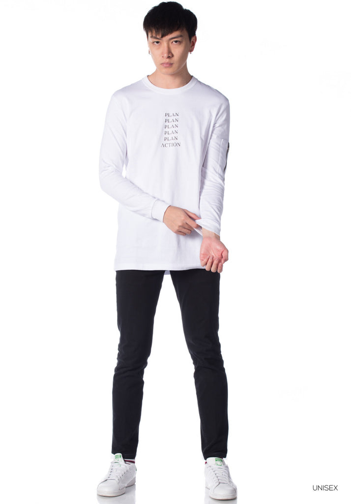 Rexagon 'Mad' Collection LS T-Shirt 004 (White)