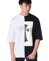 Lorddaddy Semi Monochorme Oversized Tee (BLACK/WHITE)