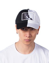 Lorddaddy Praying Hands Long Strape Baseball Cap ( Black/White )