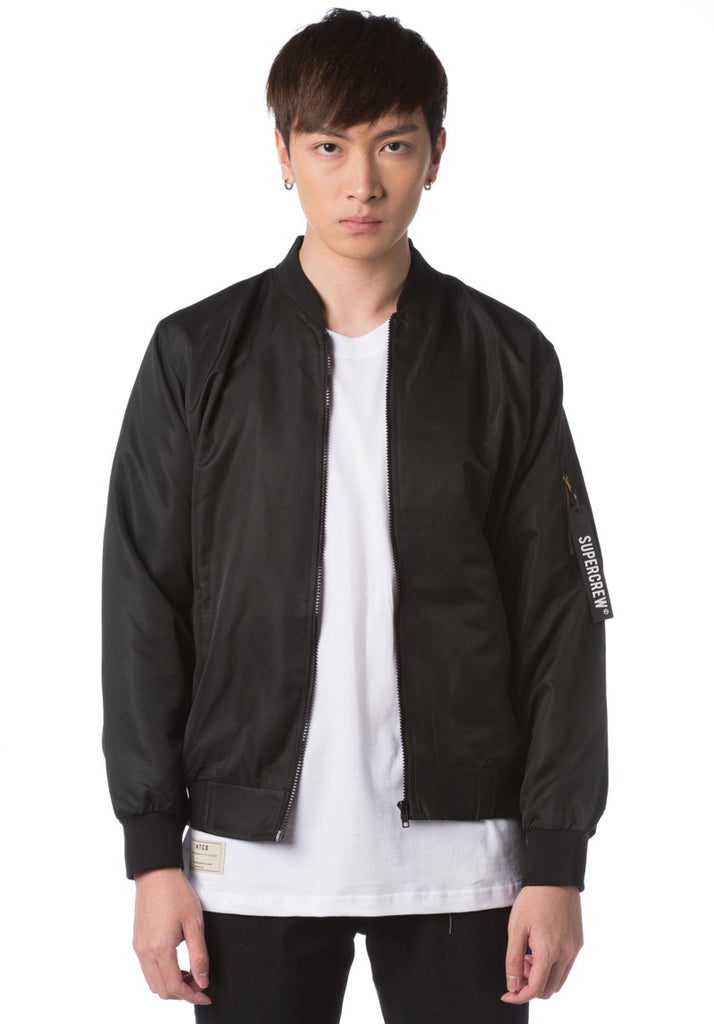 Supercrew Bomber Jacket (Black)
