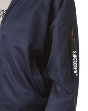 Super Crew Bomber Jacket ( Navy Blue )