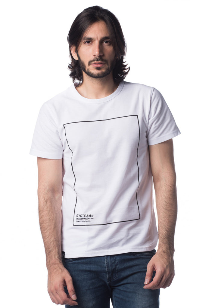 DYCTEAM STITCHING BOX TEE (White)