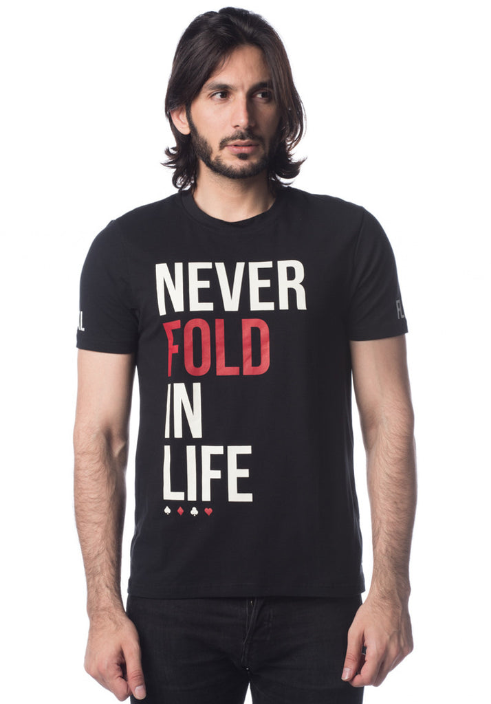 Never Fold In Life Short Sleeve (Black)