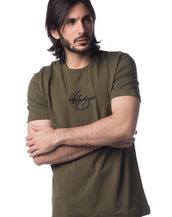 Signature Distort Tee (Army Green)