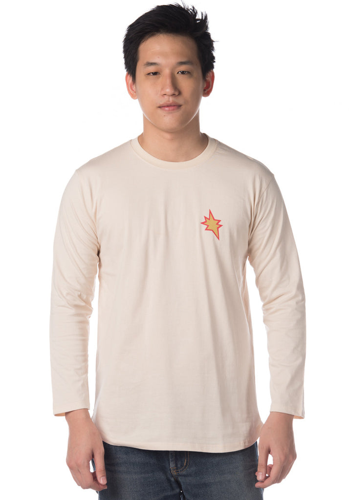 POP STYLE LONG SLEEVE TEE (Beige)