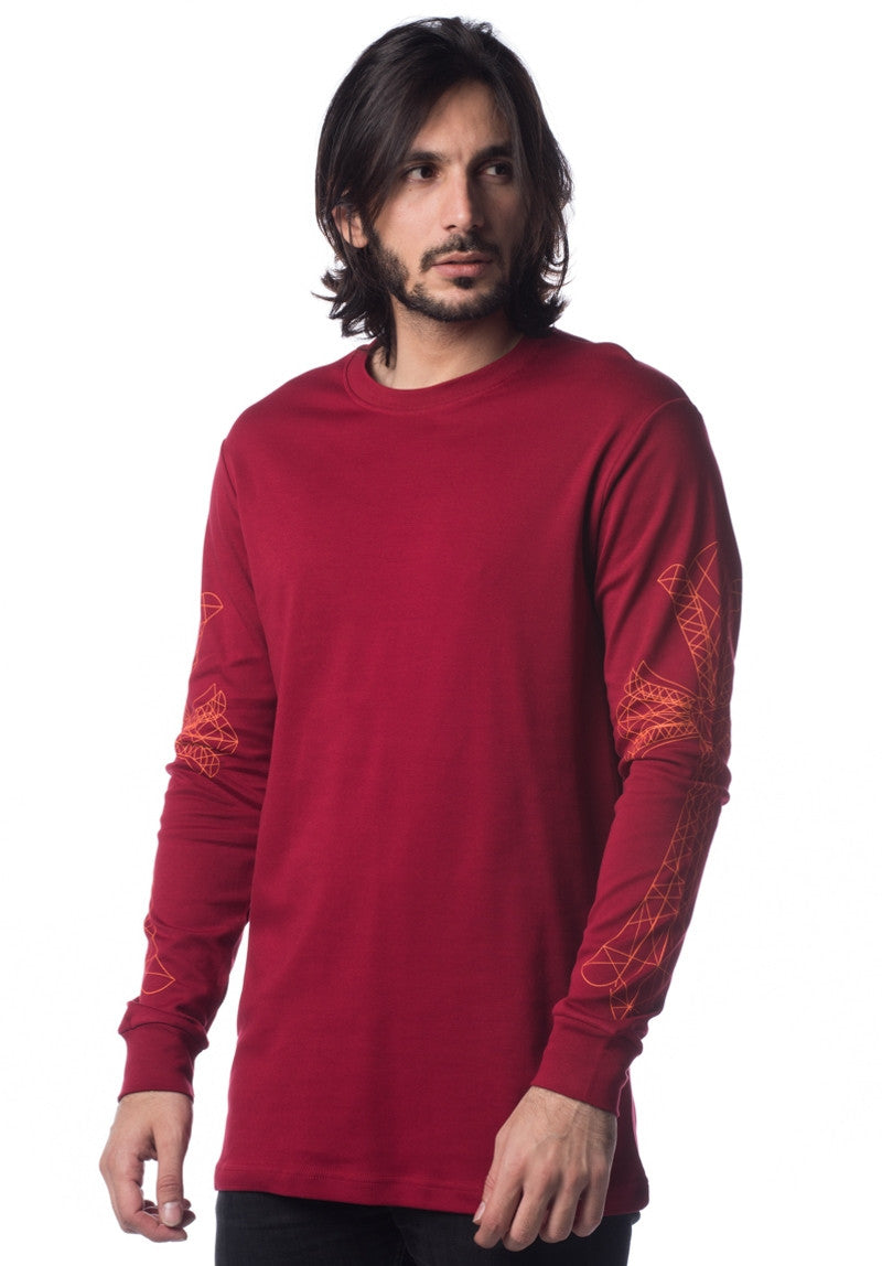 LORDDADDY LORD CROSS PRINT L/S RED