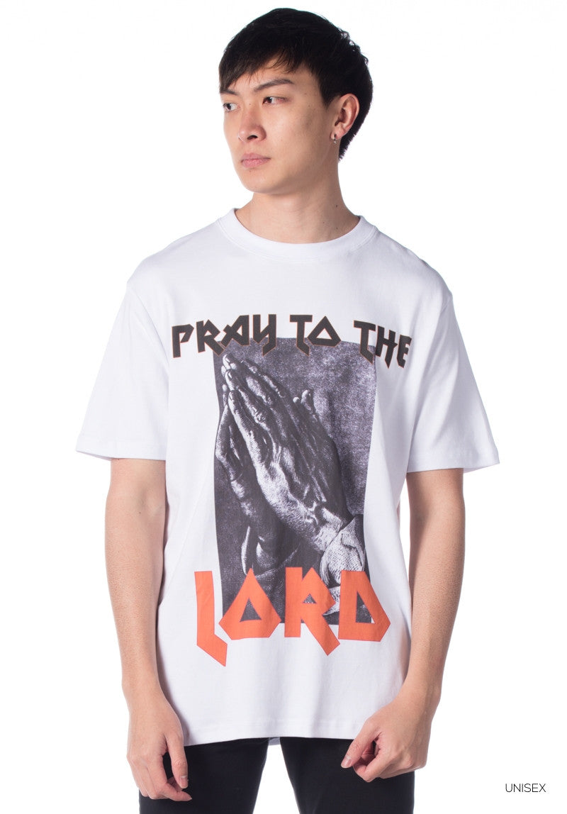 LORDDADDY PRAY TO THE LORD TEE WHITE