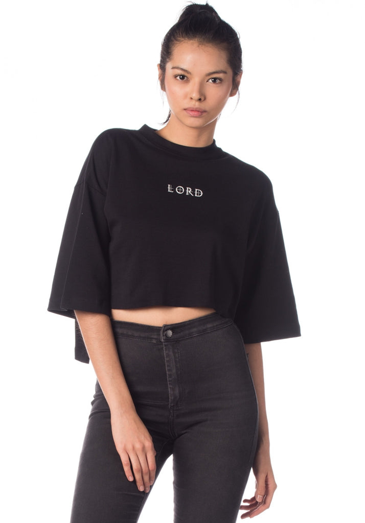 LORDDADDY LORD OVERSIZED CROPTOP BLACK (FREE SIZE)