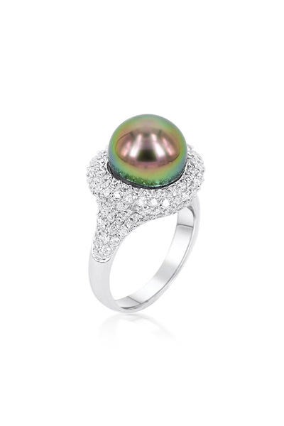 Annie Ring | Tahitian Pearl Ring | Shahana Jewels