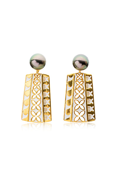 Leilani Earrings | Tahitian Pearl Earrings | Shahana Jewels