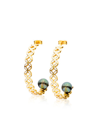 Marama Earrings | Tahitian Pearl Earrings | Shahana Jewels