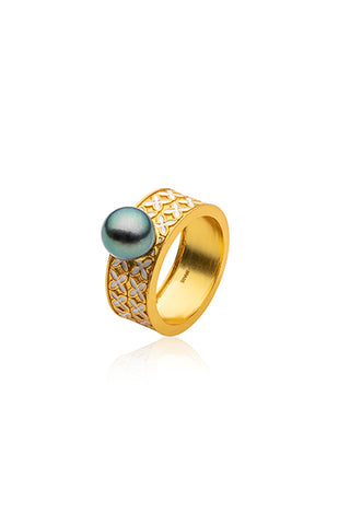 Marama Ring | Tahitian Pearl Ring | Shahana Jewels
