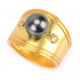 Ahi Ring | Tahitian Pearl Ring | Shahana Jewels