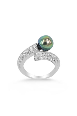 Carol Ring | Tahitian Pearl Ring | Shahana Jewels