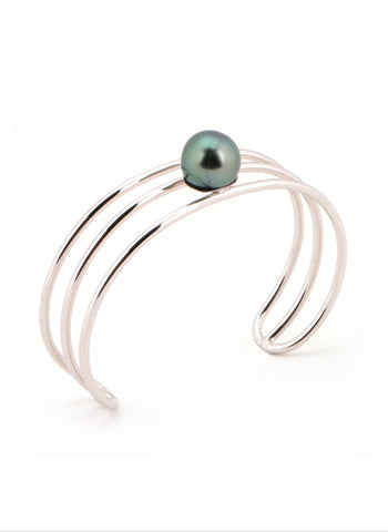 Chelsea Bangle | Tahitian Pearl Bangle | Shahana Jewels