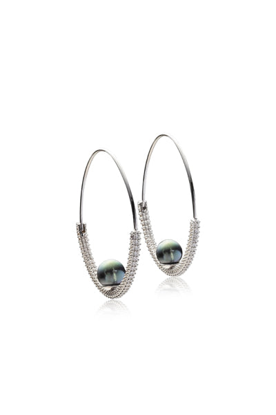Elma Earrings | Tahitian Pearl Earrings | Shahana Jewels