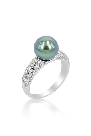 Esther Ring | Tahitian Pearl Ring | Shahana Jewels