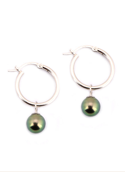 Lillian Earrings | Tahitian Pearl Earrings | Shahana Jewels