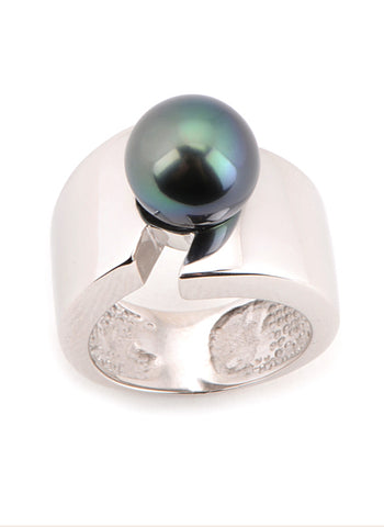 Maya Ring | Tahitian Pearl Ring | Shahana Jewels