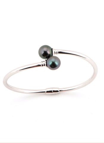 Mia Bangle | Tahitian Pearl Bangle | Shahana Jewels