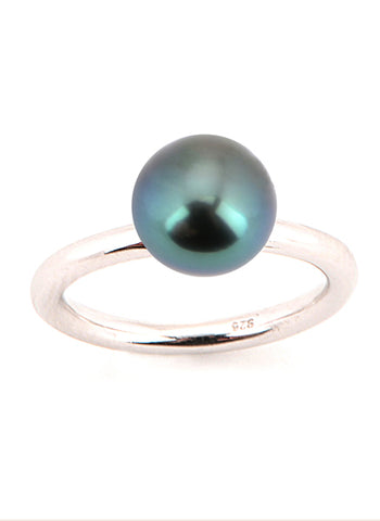 Sarah Ring | Tahitian Pearl Ring | Shahana Jewels