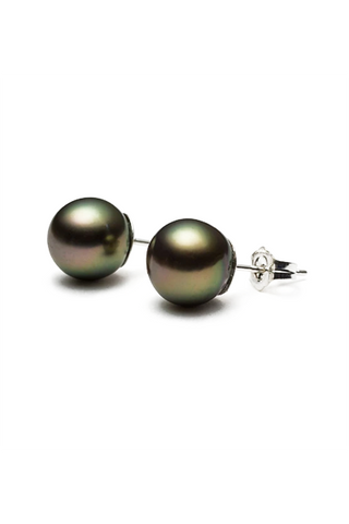 Vanessa Earrings | Tahitian Pearl Stud Earrings | Shahana Jewels