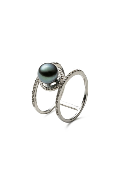 Zoe Ring | Tahitian Pearl Ring | Shahana Jewels
