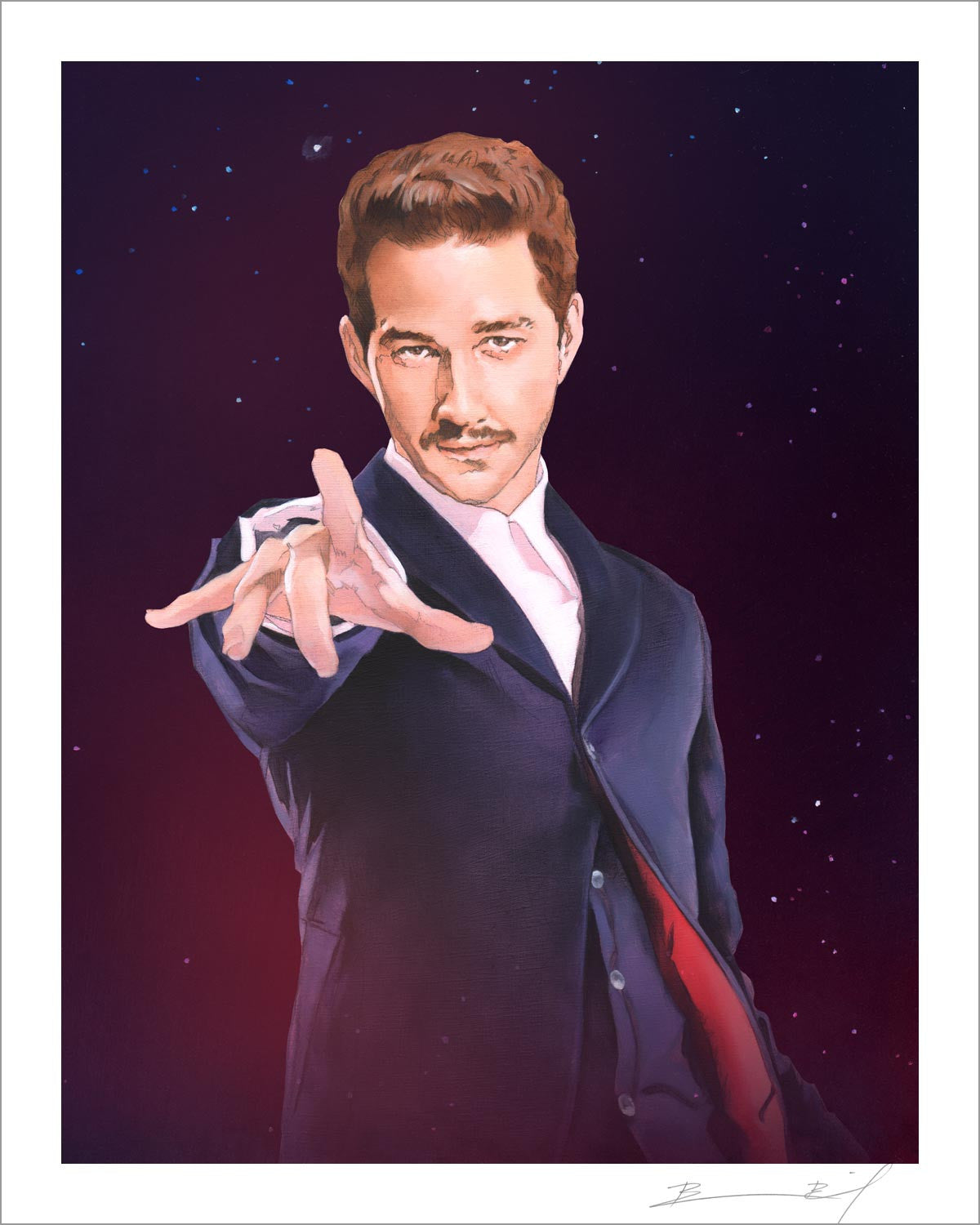 """The Twelfth Shia LaBeouf"" signed print"