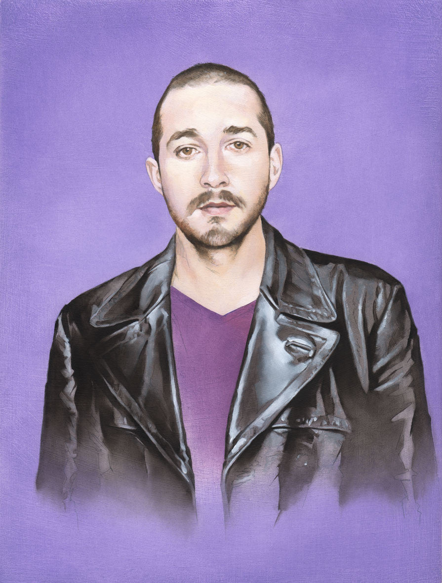 """The Ninth Shia LaBeouf"" original oil painting"