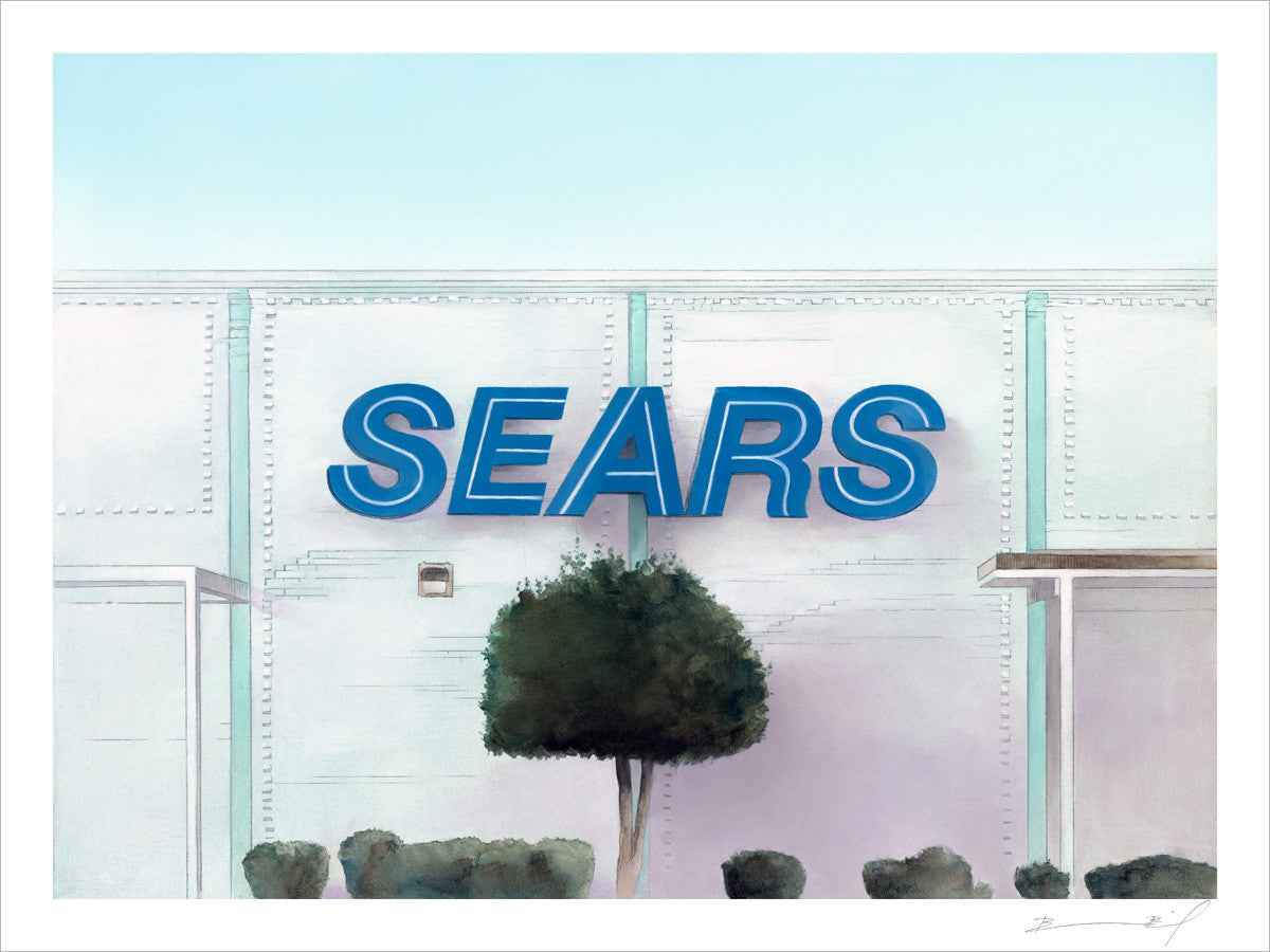 """Sears: Nashville"" signed print"