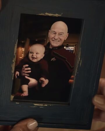 Portrait of your child and Admiral Picard