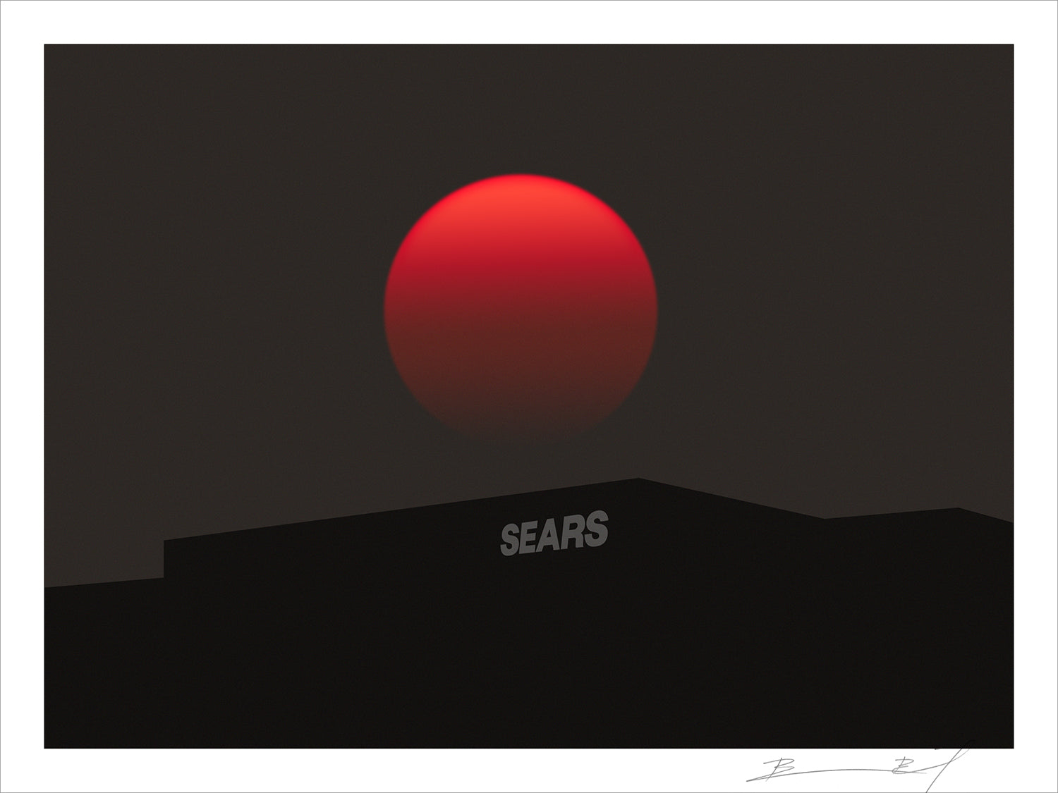 """Blood Sears"" signed print"