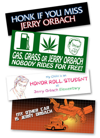 Jerry Orbach sticker set