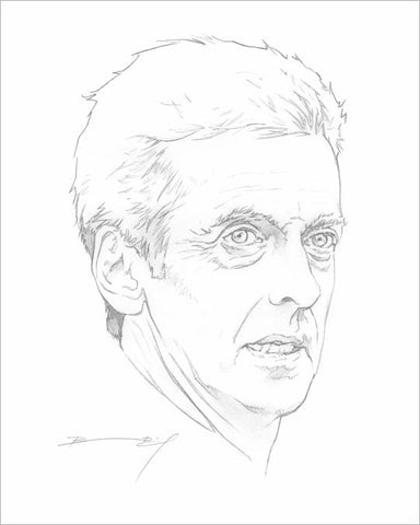 """Capaldi Head"" signed print"