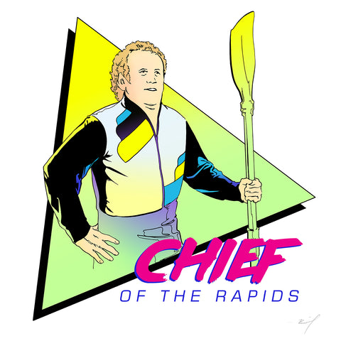 """Chief of the Rapids"" signed print"