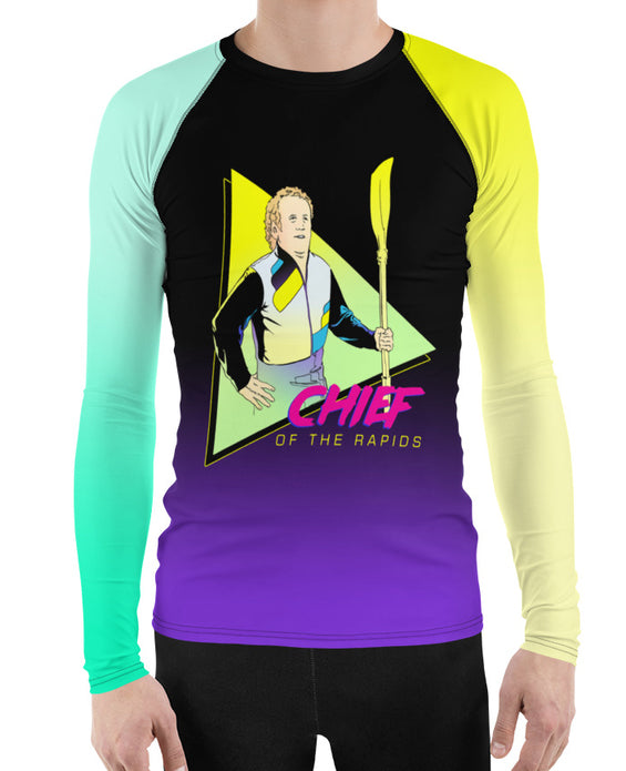 """Chief of the Rapids"" rash guard"